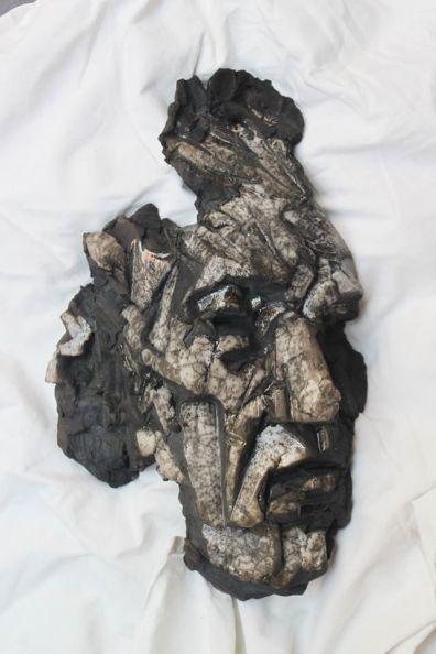 Terre cuite Raku, 42 cm